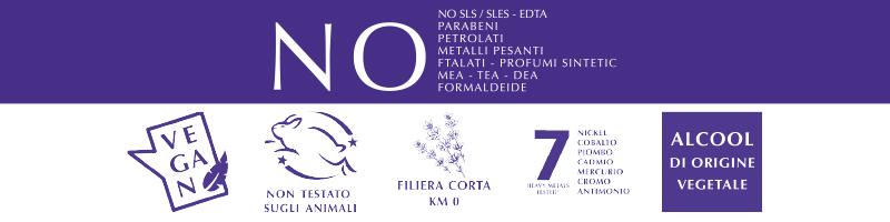 Diffusori icone certificazioni Lavanda di Toscana