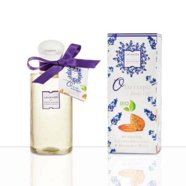Olio Massaggio Lavanda Officinale e mandorle dolci Lavanda di Toscana
